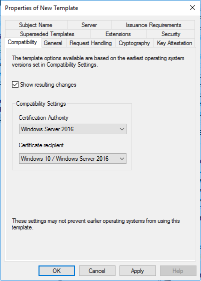 Deploy a pki on windows server 2016 part 5 timothy grubers blog in my testing and lab environment nothing is running below windows 10 or windows server 2016 so i selected appropriately yadclub