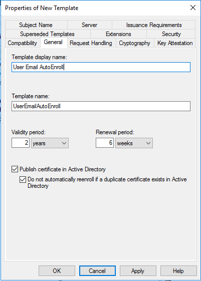 Deploy a pki on windows server 2016 part 5 timothy grubers blog if the certificates are stored in ad well be setting a group policy to have their certificates automatically follow the user no matter which computer yadclub Image collections