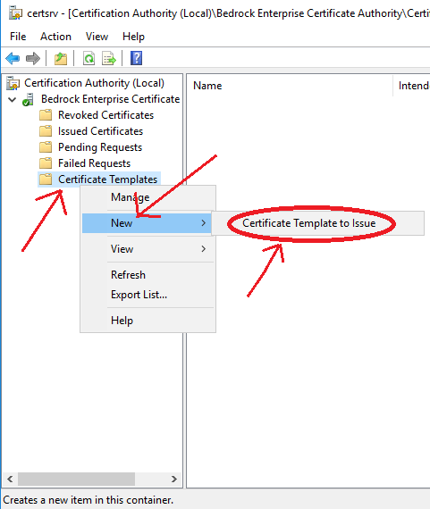 Deploy a pki on windows server 2016 part 5 timothy grubers blog then right click certificate template go to new and click certificate template to issue yadclub Gallery