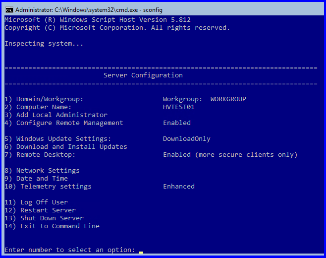 Remotely Managing Hyper-V Server in a Workgroup or non